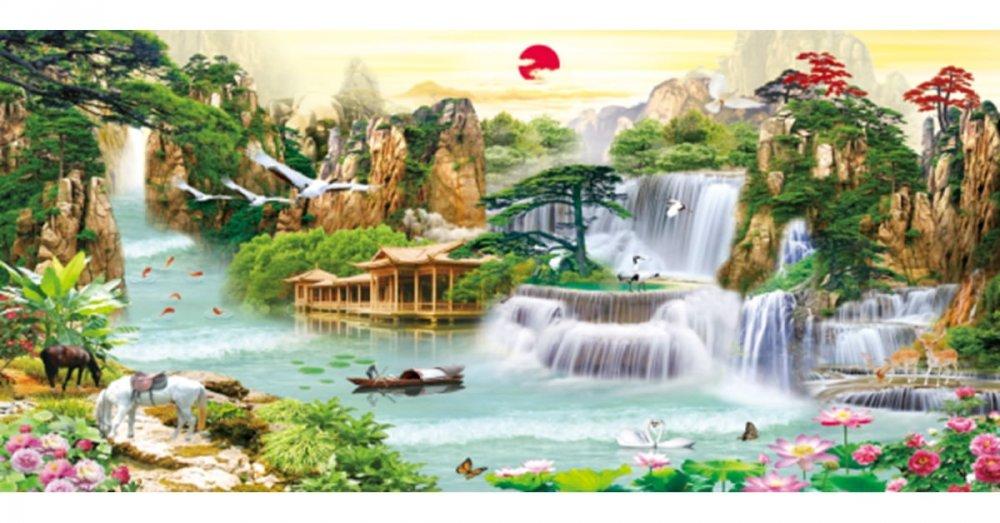 Tô điểm không gian sống bằng tranh phong cảnh Lưu Thủy Sinh Tài