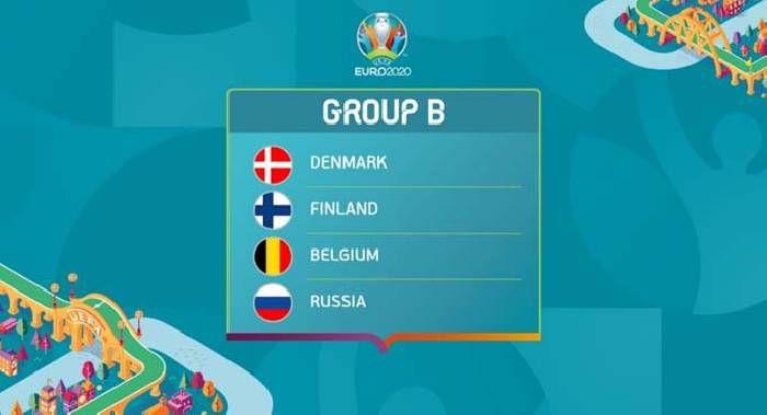Bảng đấu B VCK EURO 2021: Đan Mạch, Phần Lan, Bỉ, Nga - Hitvn