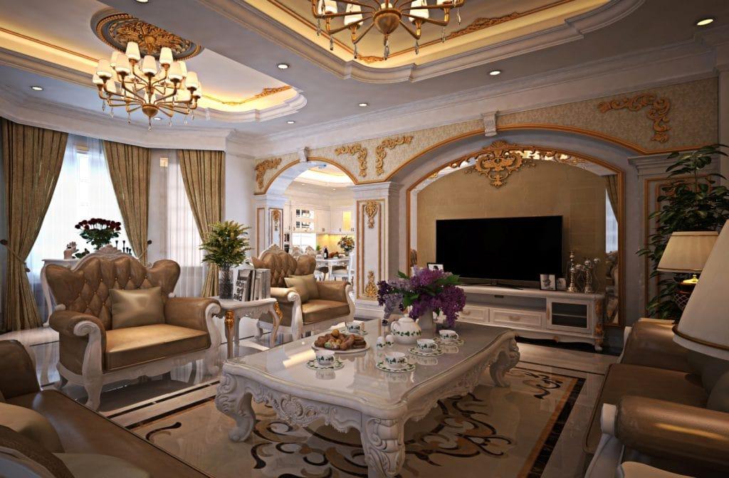 Vật liệu sử dụng trong nội thất phong cách cổ điển - CafeLand.Vn