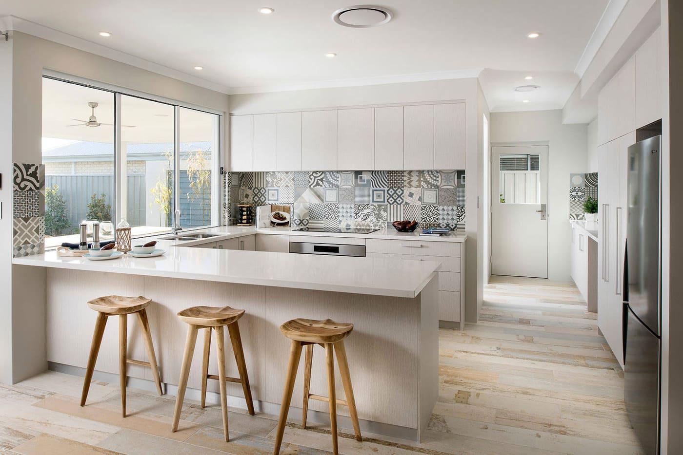 phòng bếp art deco nhẹ nhàng - Housedesign