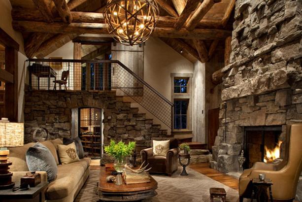 Phong cách Rustic thô mộc trong thiết kế nội thất