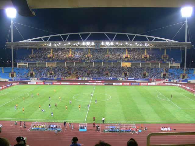 Sân Mỹ Đình được chọn là nơi tổ chức các trận bóng đá