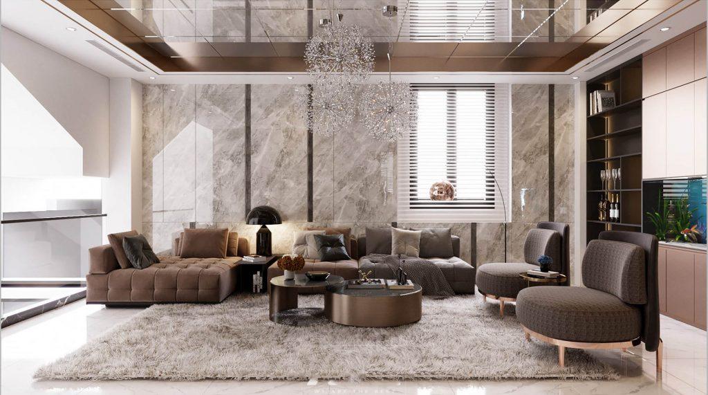 Thiết kế nội thất nhà đẹp sang trọng quý phái theo phong cách nội thất 2021